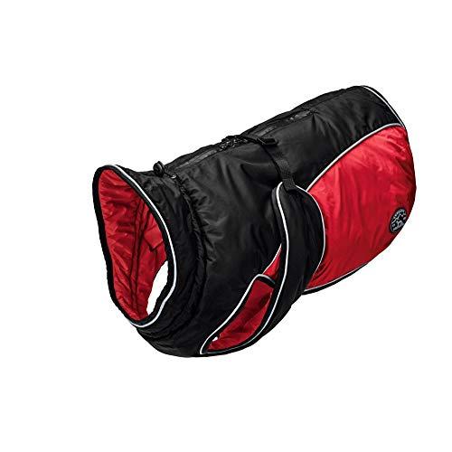 HUNTER UPPSALA EXTREME Hundemantel, Wintermantel, wasserabweisend, reflektierend, 40, schwarz/rot
