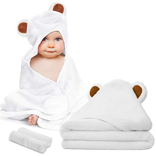 Baby Towel and Washcloth Set-Baby Bath Towel and Washcloth...
