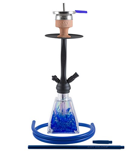 Amy Shisha I need you Rainbow Pulverbeschichtet matt Blue mit Hot Screen
