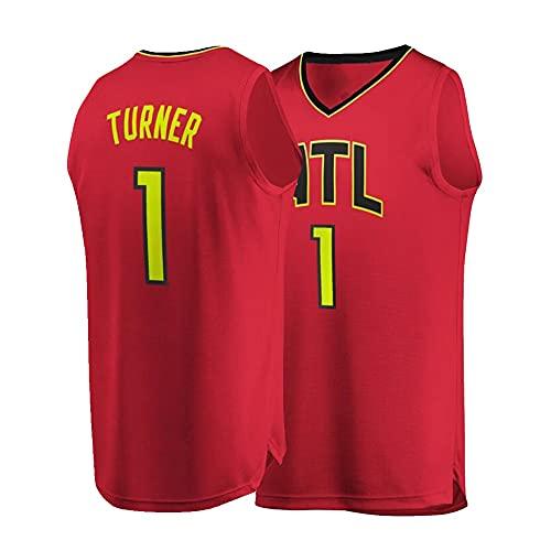 Ropa de Baloncesto Evan Turner # 1 Chaleco sin Mangas de la Camiseta del Baloncesto de los Hombres, Camisa del Baloncesto de Secado rápido del Verano (Color : A, Size : Adult-Large)