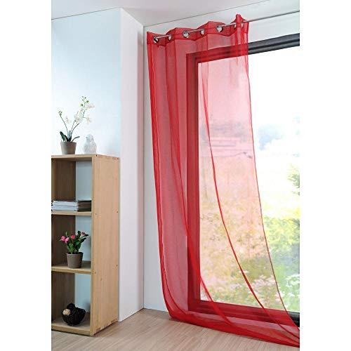 Lovely Casa - Tenda di Cotone con Effetto Velo, Dimensioni: 135x 260cm, Modello: Monna, Riferimento: R61697014VL