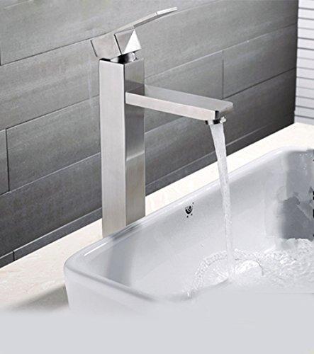 MDRW badkamer basin waterkraan roestvrij staal vierkant eengat wastafel waterkraan hete en koude platform wastafel wastafel wastafel