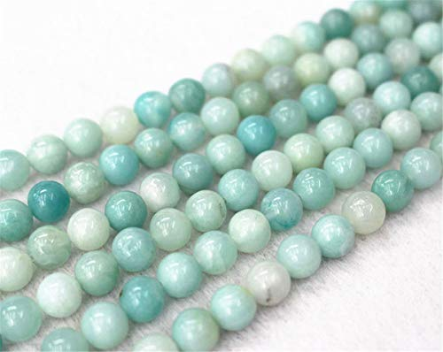 Perles rondes et lisses en amazonite naturelle, 4 mm, 6 mm, 8 mm, 10 mm, 12 mm. 8mm,47pcs
