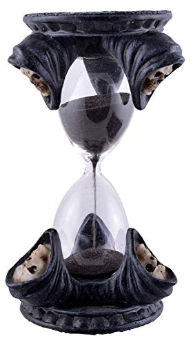 Joh. Vogler GmbH Grim Reaper Sanduhr 17 cm Gothic Figur Totenschädel Totenkopf Hourglass Zeit messen