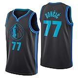 NBA Dallas Mavericks 77 Doncic Camiseta de Baloncesto, City Edition, Nuevo Tejido Bordado, Ropa Deportiva