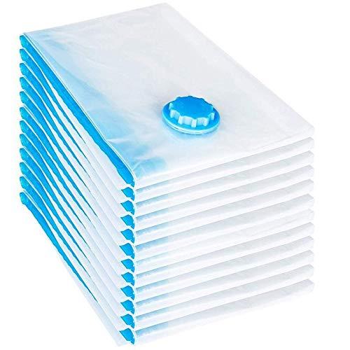 RSTJBH Juego de 12 bolsas de vacío de 60 x 40 cm, bolsa de almacenamiento al vacío, duradera (color: transparente, tamaño: M)