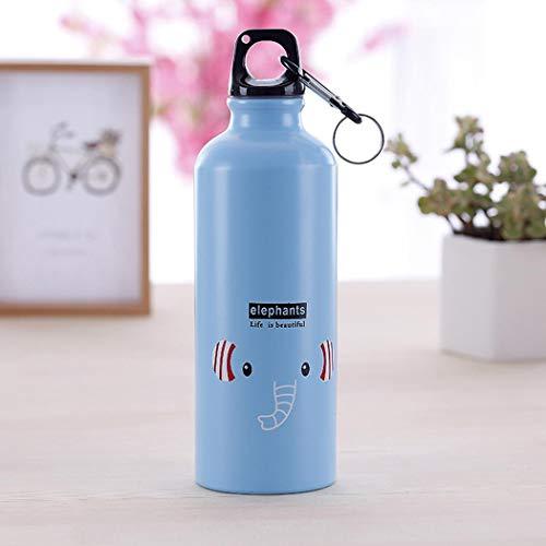 onisjun Botella de Agua de la Taza del Termo de la aleación de Aluminio del Modelo Animal del cómic 500 ml Termo para Bebidas