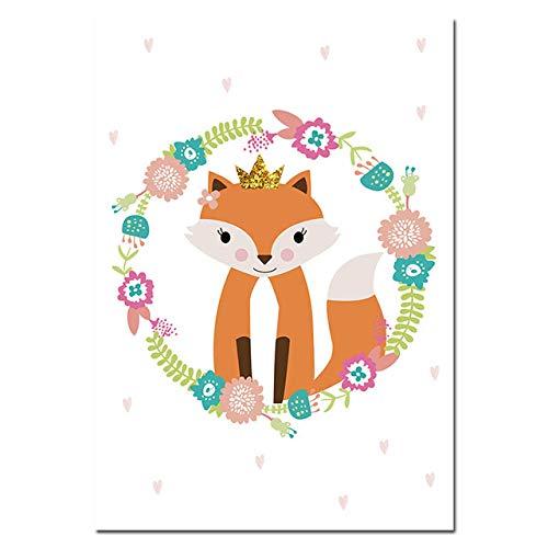 sanzangtang Cartoon Wald Tier leinwand Poster Kindergarten wandkunst Druck leinwand malerei Nordic Kinder dekorative Bild Baby Schlafzimmer Dekoration