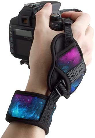 USA GEAR DualGRIP Professional Camera Grip Hand Strap with Neoprene Design and Metal Plate Compatible product image