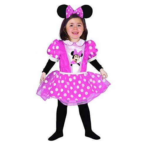 Ciao- Baby Minnie Classic Disney Costume per Bambini, Rosa, 12-18 mesi, 11244.12-18