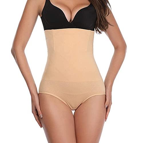 KeepCart Women's High Waist Shapewear with Anti Rolling Strip Tummy Control Tucker Waist Slimming Panties Women Waist Shapewear Women Shapewear Underwear (Cream, M)