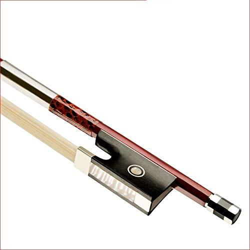 Yaunli vioolboog Braziliaans rood sandelhout viool boog natuurlijk wit doosje Star Frog Fisheye Fiddle Bow zwart viool koolstofvezel bow