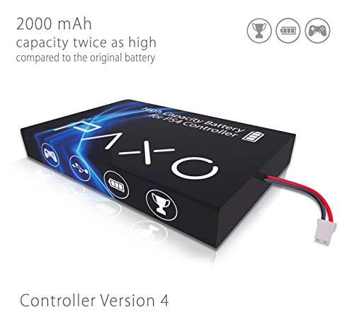 Batterie Li-ION Haute Performance 2000mAh pour la Manette PS4 contrôleur Version 4 // Exchange Set avec Instructions Photo en Anglais et Outil pour Ouvrir Le contrôleur