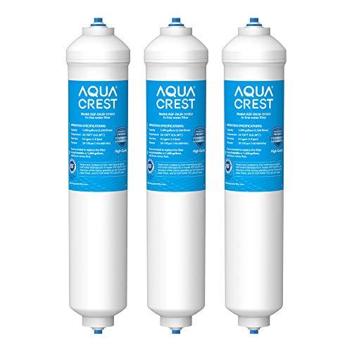 3X AQUACREST DA29-10105J Kühlschrank-Wasserfilter, Kompatibel mit Samsung Aqua-Pure Plus (nur Externe) DA29-10105J HAFEX/EXP DA2010CB LG 5231JA2010A Wpro USC100/1 WSF-100, EF9603(3)