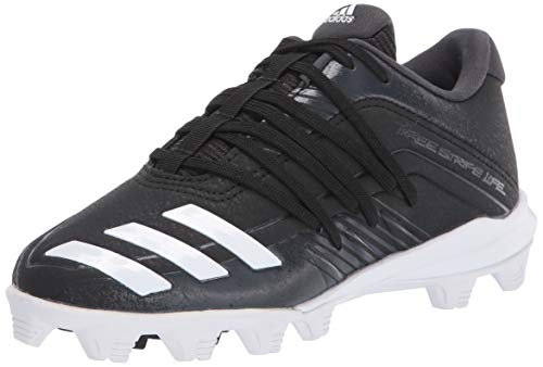adidas Kids Unisex's Afterburner 6 Grail MD Cleats Baseball Shoe, Black, 1 M US Big Kid