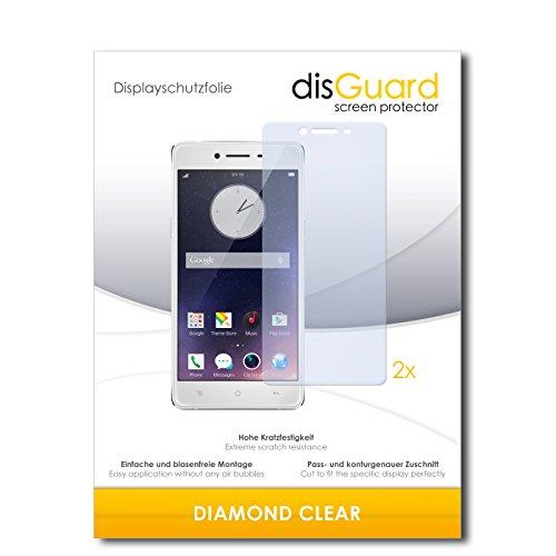 disGuard 2 x Bildschirmschutzfolie Oppo R7 Schutzfolie Folie DiamondClear unsichtbar
