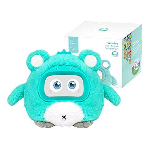 WOOBO Plush Interactive Robot Toy for Curious Kids - Stuffed Talking Toys with Songs, Stories, Games, Voice Interaction, Alarm Clock, App and Touch Control, Best Gift for Boys Girls