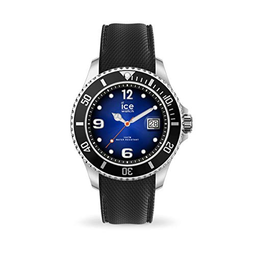 Ice-Watch - ICE Steel Deep Blue - Zwart herenhorloge met siliconen armband - 017329 (Extra large)