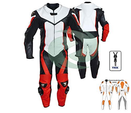 Roter und weißer Lederanzug Schutzkleidung Motorrad Panzerungen eines Rennrad Anzug Motorrad jede Größe