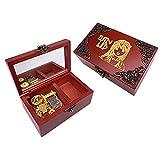 Youtang Elfen Lied Jewelry - Caja de música con espejo tallado, caja de regalo para jugar Lilium, movimiento dorado