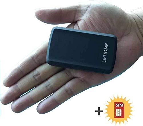 Mini-GPS-Tracker, Diebstahlschutz, GPS-Tracker, SMS-Locator, Global Echtzeit-Tracking, für Auto, Auto, Motorrad, Fahrrad, Kinder, Geldbörse, Dokumente/Taschen mit App für iOS und Android