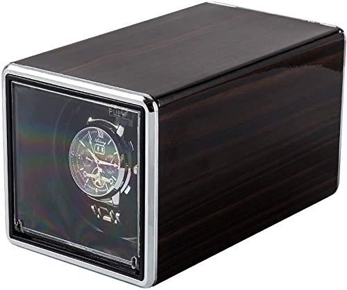 JJDSN Enrolladores de Relojes - Reloj mecánico Multicolor Caja de bobinado automático Tapa Abierta silenciosa Auto-Parada Reloj Individual Agitador de Reloj Estuche de exhibición de Almacenamiento