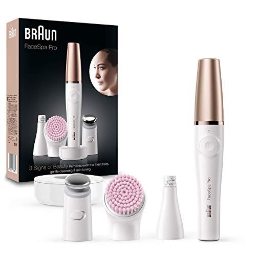 Braun FacEspa Pro SE912 Depiladora Facial TodoenUno para Mujer, Incluida una Depiladora Facial y Cepillo Limpiador...