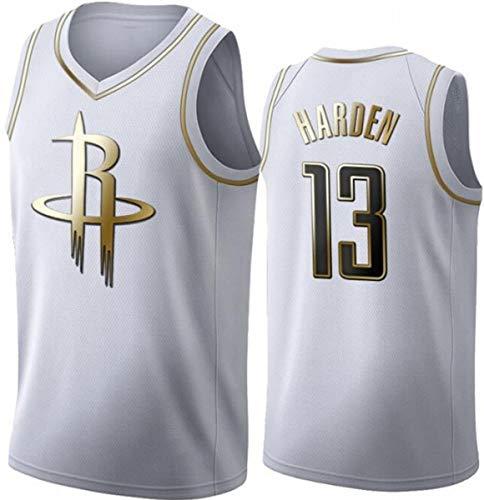 WSUN NBA Rockets 13# James Harden Trikot, Coole Atmungsaktive Stoff Retro Bestickte Mesh Swingman Ärmellose Sport Tops, Unisex Basketball Fan T-Shirt,A,M