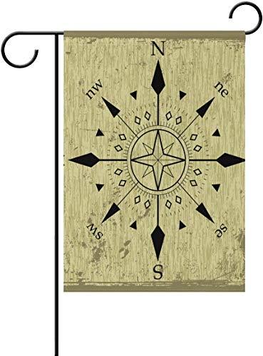 N/A Compass Dekorative Double Sided Garten Flag Willkommen Flagge 12,5X 18 Zoll