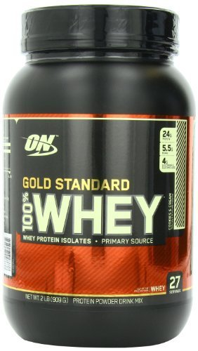 Optimum Nutrition 100% Whey Gold Standard, Cookies and Cream, 2 Pound by Optimum Nutrition (English Manual)