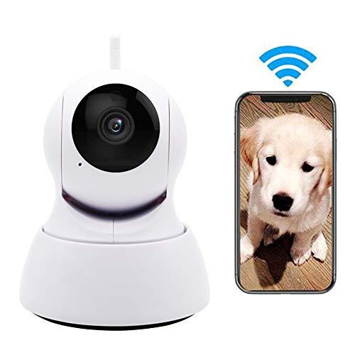 LEEFISH Haustier Kamera, W-LAN Hund Monitor, Überwachung 720P HD IP Kamera, Innen- Fürs Kleinkind Haustier Mit Bewegungserkennung/Nachtsicht/Zweiwege-Audio/Ptz-Rotationsüberwachung