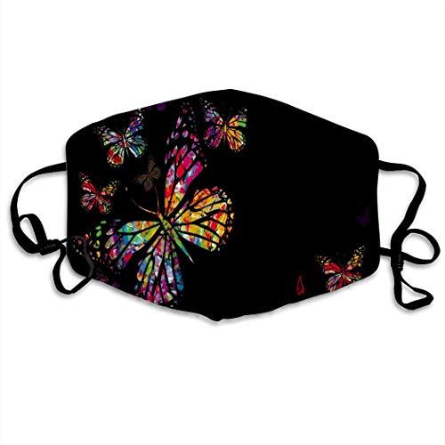 Schmetterling lustiges Muster Männer Frauen atmungsaktive Bequeme Gesichtsschutzhülle mit elastischem Gurt für die persönliche Gesundheit Verschiedene Verwendung