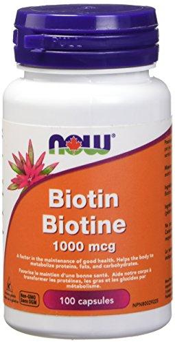 NOW Biotin 1,000mcg 100 Veg Capsules, 50 g