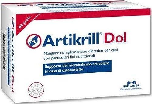 Integratore metabolismo articolare cani nbf lanes artikrill dol perle per cani da 60 cpr 79042