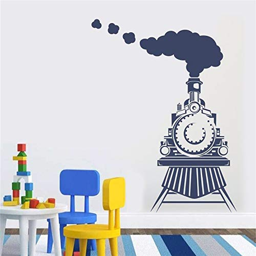 Ajcwhml Train Wall Sticker kids room decoration Decal Front view of Train Bedroom Sticker Vinyl Boy baby Wall Decal home decor 79x106cm