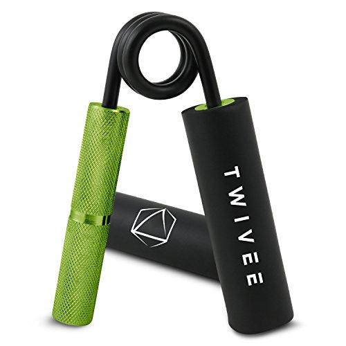 TWIVEE - Fingerhantel - Unterarmtrainer mit Griffpolster und Tasche - Gripper aus gehärtetem Stahl und Aluminium - Handtrainer - Handmuskeltrainer