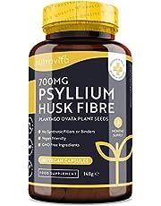Psyllium Husk-vezel 700 mg - 180 veganistische psylliumschil capsules - 1400 mg per portie - gemaakt van 100% pure Plantago Ovata-plantenzaden - geen bindmiddelen of vulstoffen - gemaakt door Nutravita