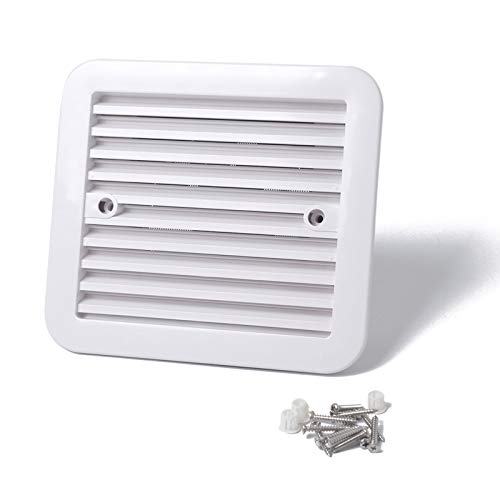 bobeini 12V ventilación de Nevera con Ventilador para Caravana, Remolque, Aire, Viento Fuerte, Escape, Blanco
