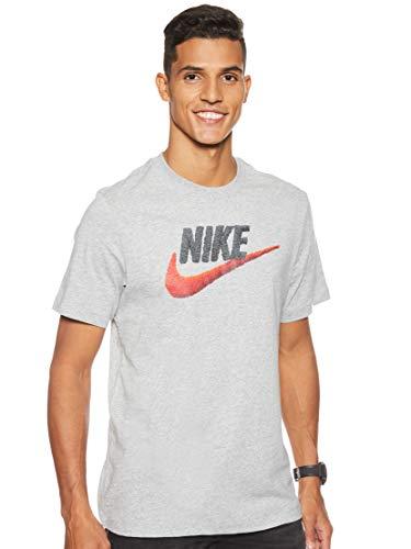 NIKE M NSW tee Brand Mark Camiseta de Manga Corta, Hombre, Gris