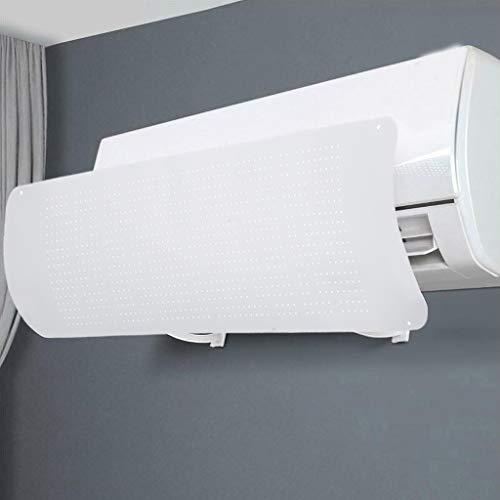 DOOGDOOG Aire Acondicionado Deflecto,Deflector de Aire Acondicionado,Deflexión de 180 Grados(White)