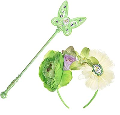 Suit Yourself Tinker Bell Halloween Costume Accessory Kit for Girls, Peter Pan, One Size, Includes Headband and Wand