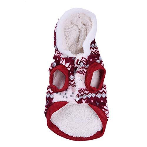 SNIIA Zachte comfortabele vrolijke kerstfeestdagen, feestelijke beerpullover-rolkraag-val-winter-hondenshirt-mantel warme kleding voor grote honden