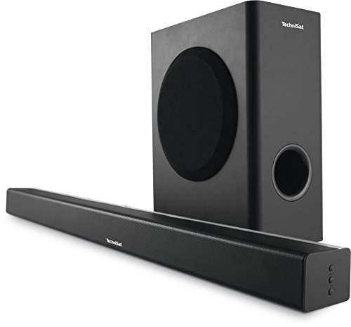 TechniSat AudioMaster SL 900 Soundsystem Soundbar( mit Wireless Subwoofer, USB-Schnittstelle zur MP3 und WMA Wiedergabe mit Ladefunktion) schwarz