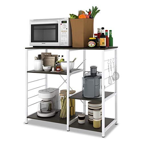 W-LIVE 3-Tier Kitchen Baker's Rack, Utility Microwave Oven Stand Storage Cart Home Islands Trolley Workstation Shelf