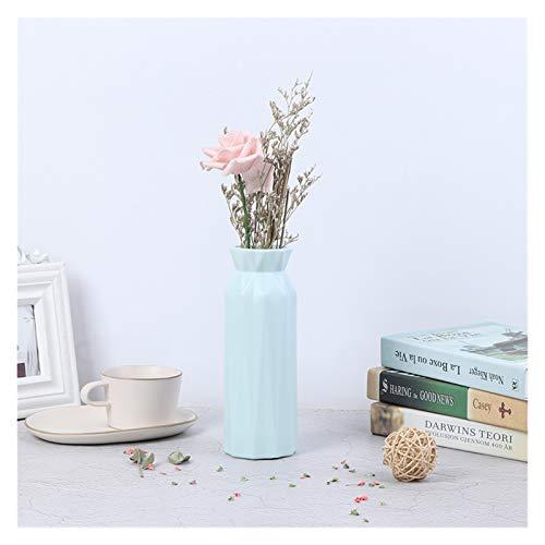Mjwlgs Modernos Jarrones Moderno florero de Flores Casa Arreglo de Flores Sala de Estar Origami Plástico Estilo nórdico Decoración del hogar Adorno (Color : GN)