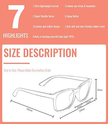 MIGSIR 5 Pack Blue Light Blocking Glasses, Fashion Computer Glasses for Women/men, Anti Glare, UV400, Eye Strain