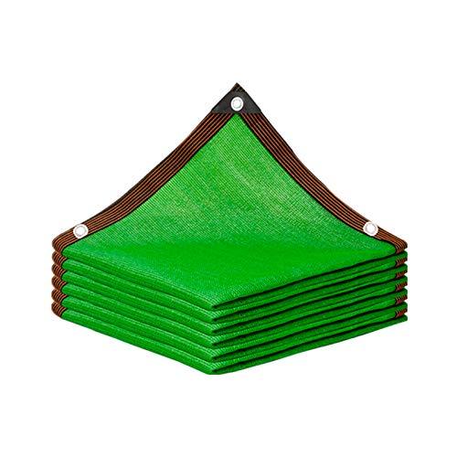 YLL Filet d'ombre Toile d'ombrage Anti-âge Anti-UV Filet d'ombrage au Soleil maillé, pour abri de Voiture/Pergola/Fleurs/Plantes de Serre/Patio Lawn/Pet House (Vert),6x6m(20 * 20ft)