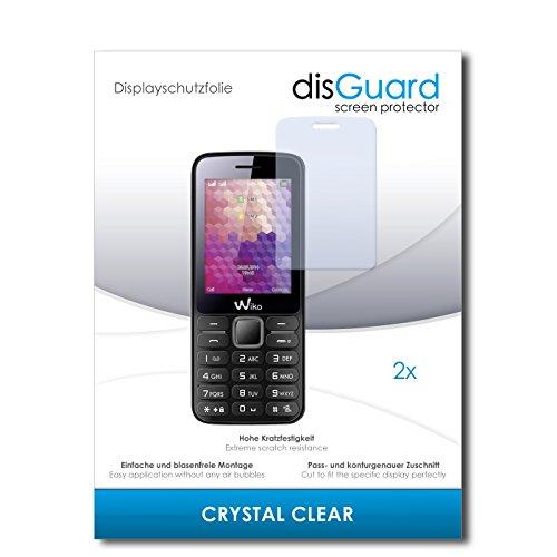 disGuard® Bildschirmschutzfolie [Crystal Clear] kompatibel mit Wiko Riff [2 Stück] Kristallklar, Transparent, Unsichtbar, Extrem Kratzfest, Anti-Fingerabdruck - Panzerglas Folie, Schutzfolie