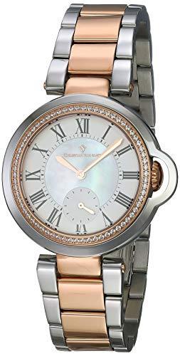 Christian Van Sant Damen analog Quarz Uhr mit Edelstahl Armband CV0234