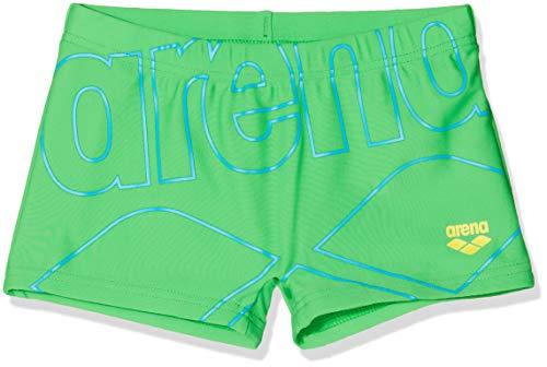 ARENA Jungen Sonnenschutz Badeshorts Badehose, Golf Green-Yellow Star, 110